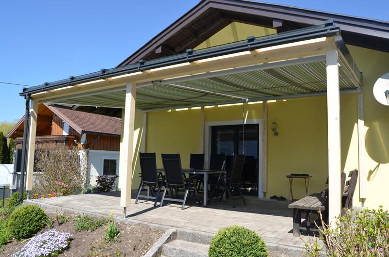 Unterglasmarkise ideal für offene Terrassenüberdachungen